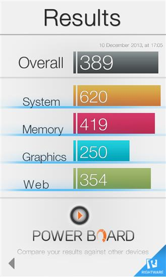 Basemark OS II - Imagem 2 do software
