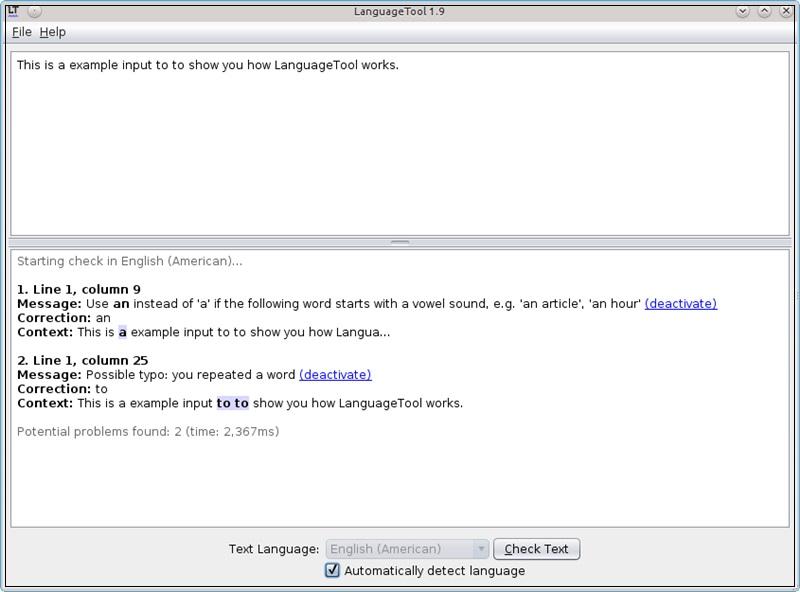LanguageTool - Imagem 3 do software
