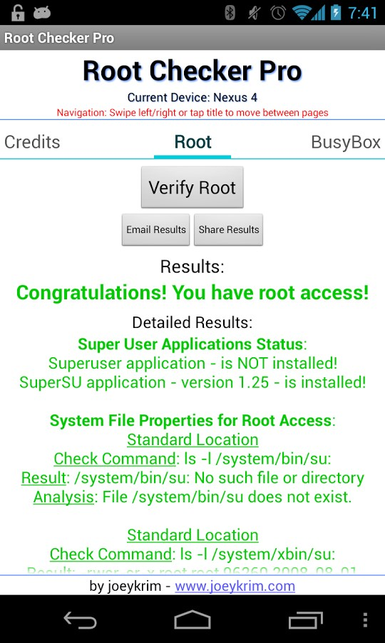 Root Checker Pro - Imagem 1 do software