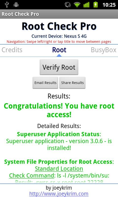 Root Checker Pro - Imagem 2 do software