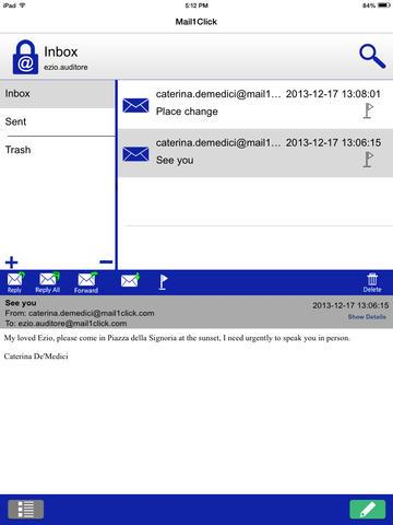 Mail1Click - Secure Mail - Imagem 1 do software