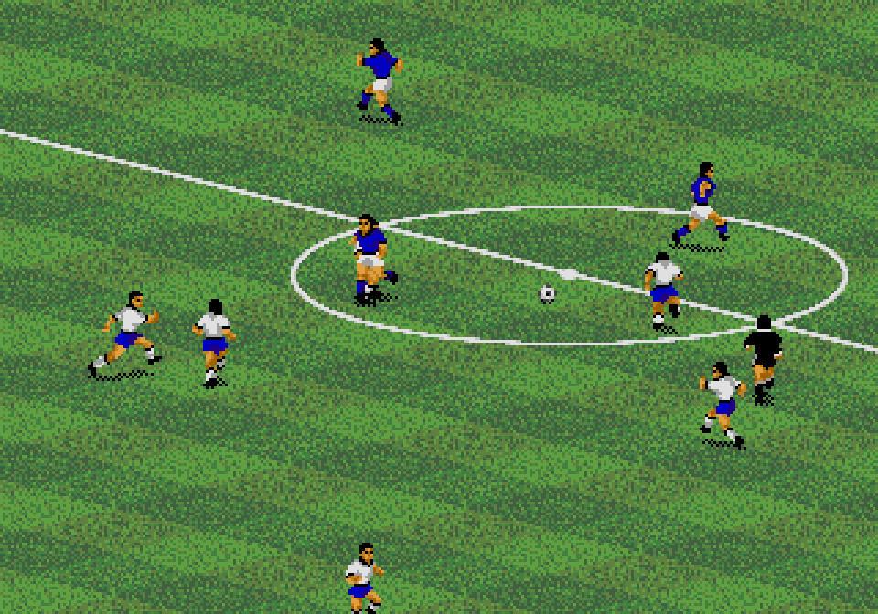 FIFA INTERNATIONAL SOCCER (1993) (Mega Drive, SNES, Mega CD, PC, Amiga, 3DO, Master System, Game Gear e Game Boy) | Capa: David Platt e Piotr Swierczewski | Narração e comentários: nenhum