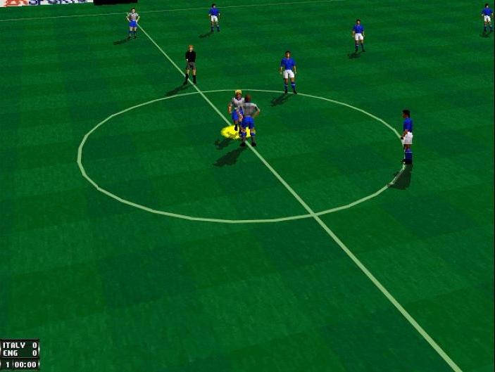 FIFA 96 (1995) (PlayStation, Saturn, 32X, Mega Drive, SNES, PC, Game Gear e Game Boy) | Capa: Frank de Boer e Jason McAteer | Narração e comentários: John Motson