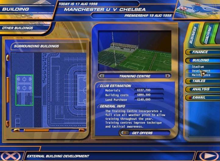 THE F.A. PREMIER LEAGUE FOOTBALL MANAGER 99 (1998) (PC) | Capa: logo da Premier League | Narração e comentários: nenhum