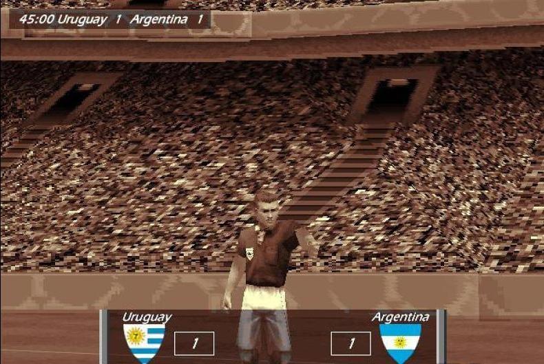 WORLD CUP 98 (1998) (PlayStation, N64, PC e Game Boy) | Capa: foto da Copa do Mundo | Narração e comentários: John Motson, Chris Waddle, Kenneth Wolstenholme, Des Lynam e Gary Lineker