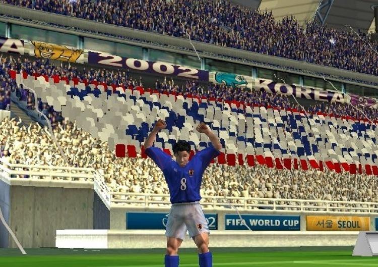 2002 FIFA WORLD CUP (2002) (PS2, GameCube, Xbox, PC e PlayStation) | Capa: imagem da Copa do Mundo | Narração e comentários: John Motson e Andy Gray