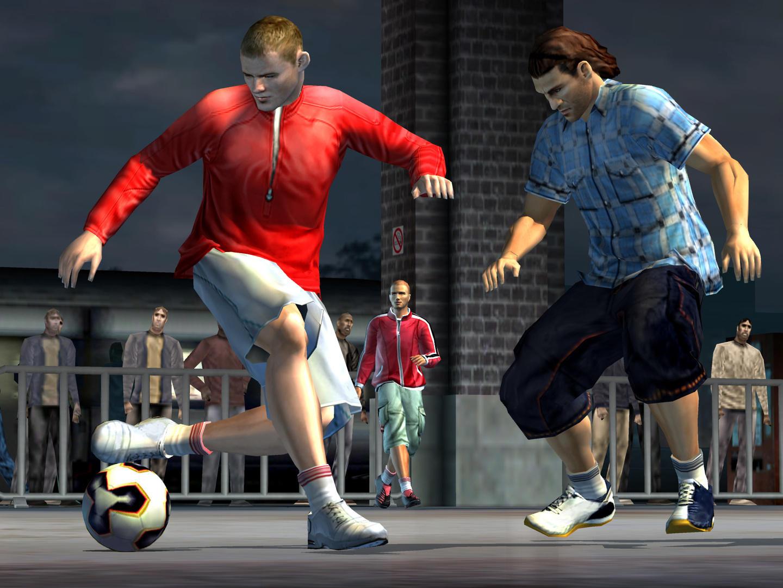 FIFA STREET (2005) (PS2, Xbox e GameCube) | Capa: Ronaldinho | Narração e comentários: MC Harvey
