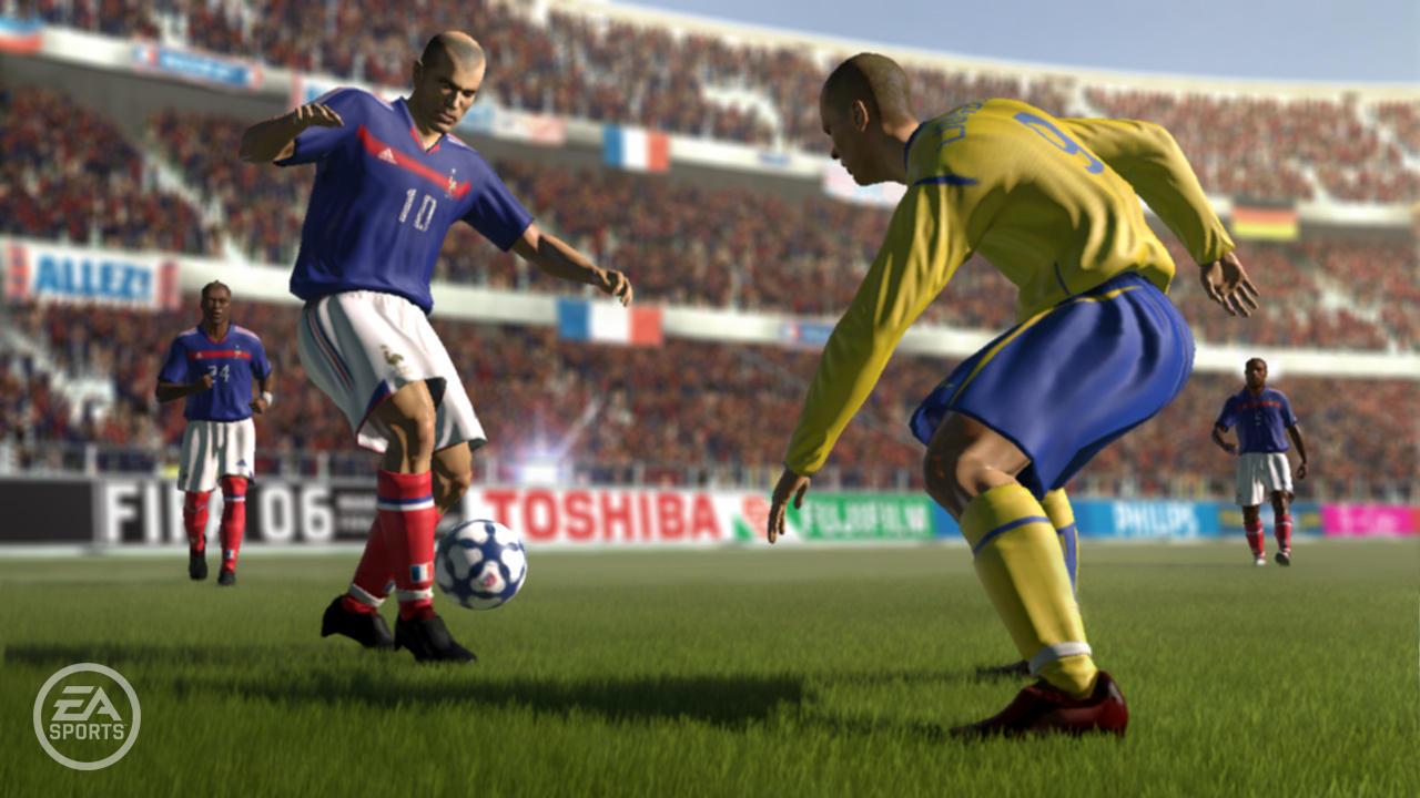 FIFA 06: ROAD TO FIFA WORLD CUP (2005) (Xbox 360) | Capa: Ronaldinho | Narração e comentários: Martin Tyler e Andy Gray