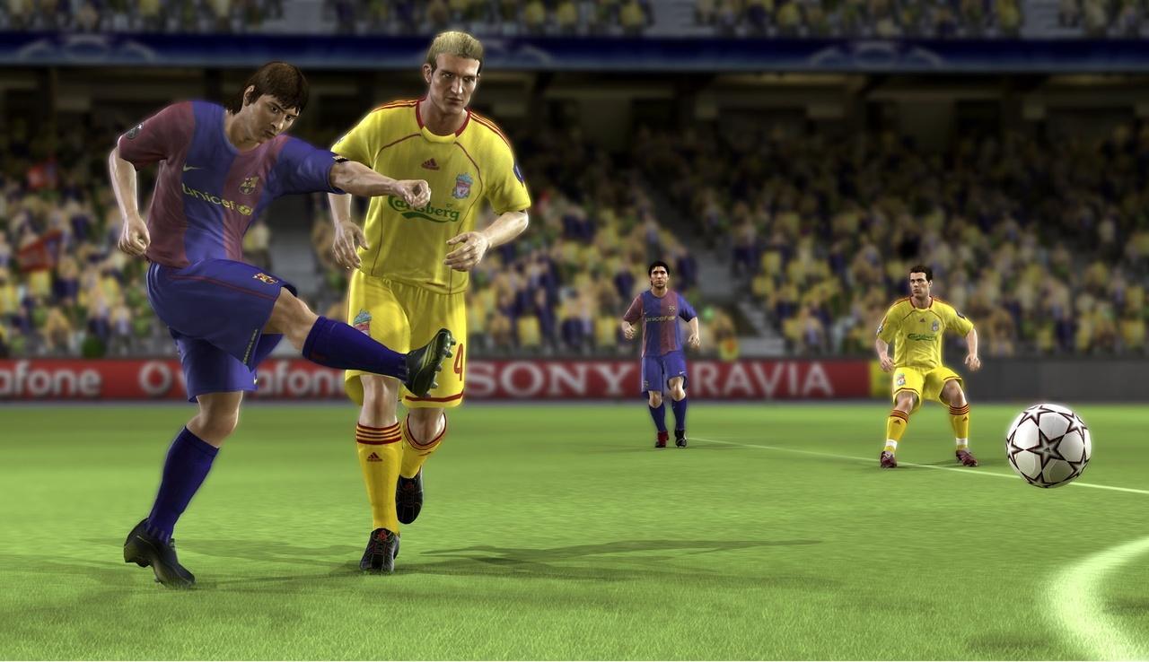 UEFA CHAMPIONS LEAGUE 2006-2007 (2007) (Xbox 360, PS2, PC e PSP) | Capa: logo da Champions League | Narração e comentários: Clive Tyldesley e Andy Gray
