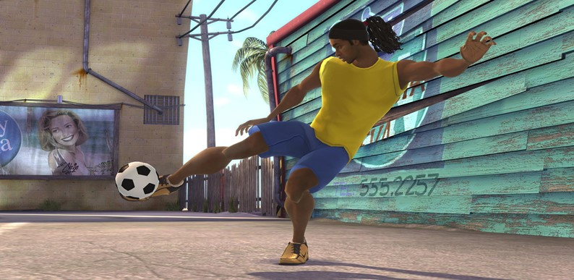 FIFA STREET 3 (2008) (Xbox 360, PS3, DS e plataformas móveis) | Capa: Ronaldinho, Peter Crouch e Gennaro Gattuso | Narração e comentários: nenhum