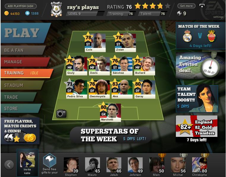FIFA SUPERSTARS (2010) (Facebook e iOS) | Capa: nenhum | Narração e comentários: nenhum