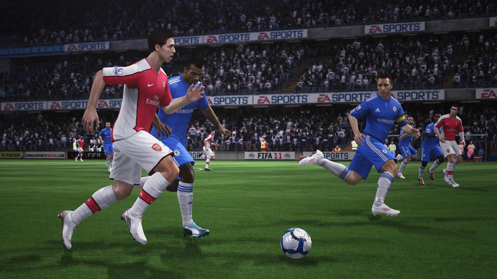 FIFA 11 (2010) (Xbox 360, PS3, Wii, PC, PS2, PSP, DS, iOS e BlackBerry OS) | Capa: Kaká e Wayne Rooney | Narração e comentários: Martin Tyler e Andy Gray