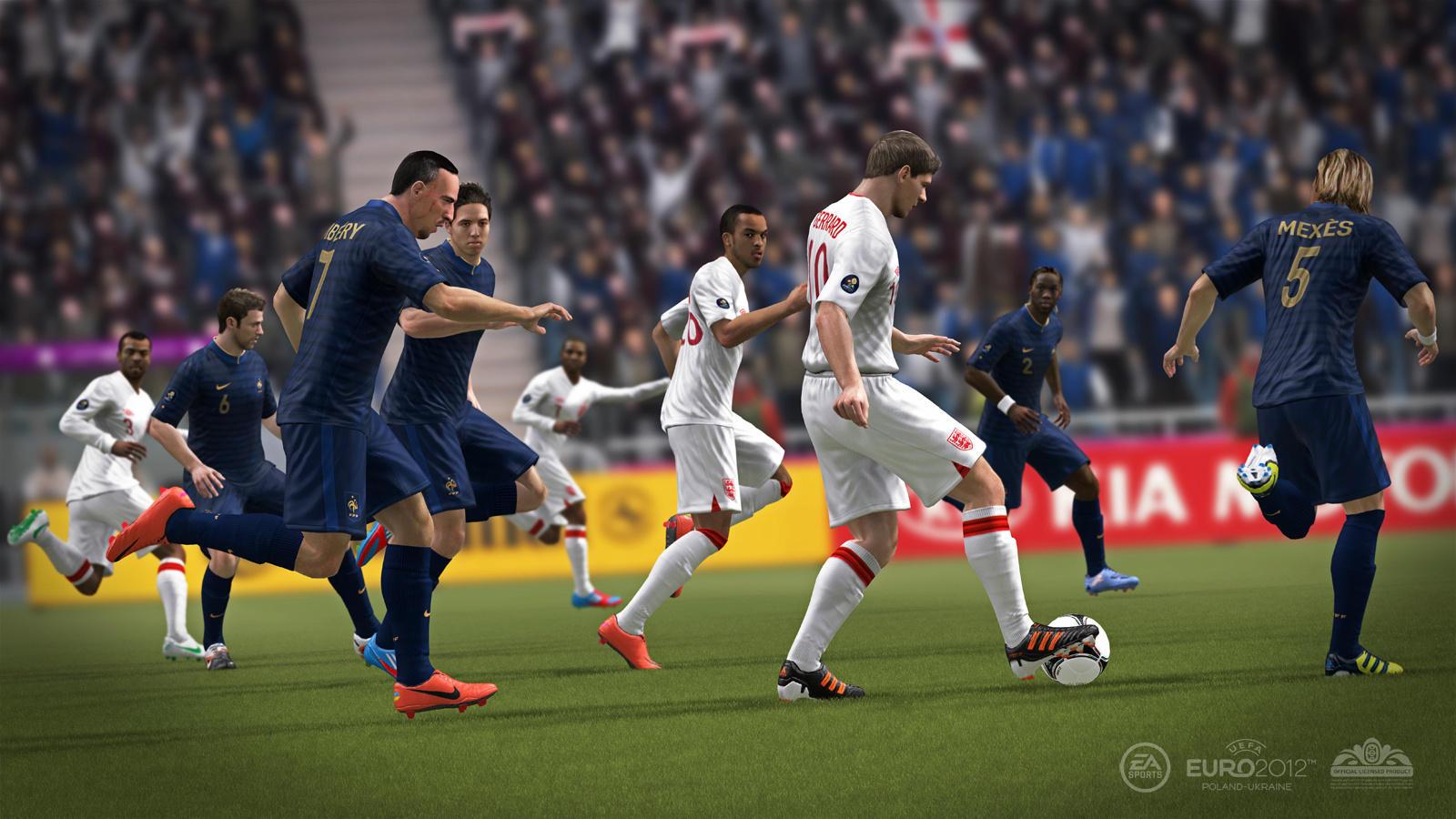 UEFA EURO 2012 (2012) (Xbox 360, PS3 e PC) | Capa: nenhum | Narração e comentários: Clive Tyldesley e Andy Townsend