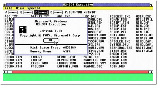 A História do Windows. 08080109561004
