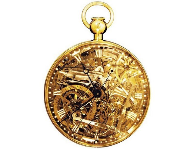4833690a97e O relógio conta com todas as funções conhecidas para a época e sua  estrutura é feita em ouro. O intrincado mecanismo interno fica à mostra