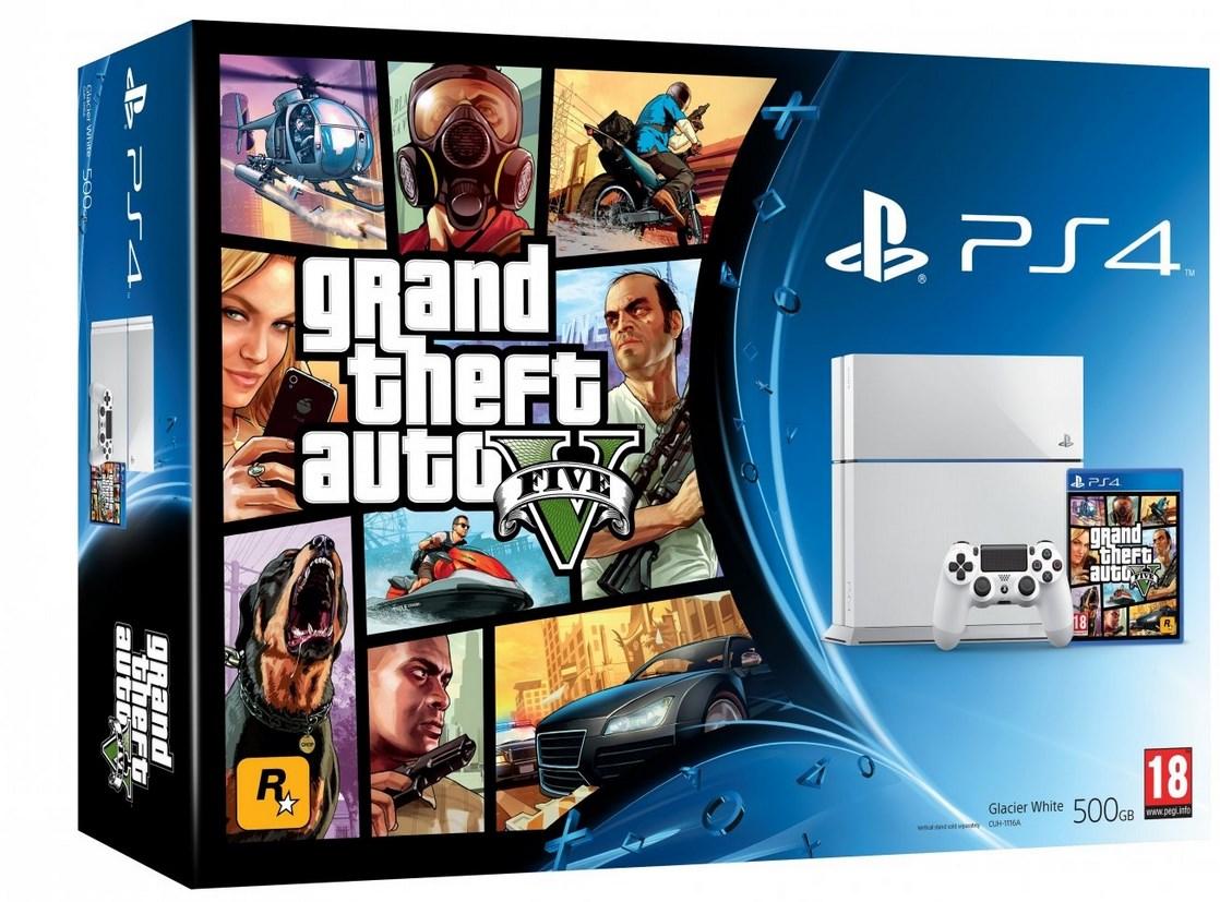 Bundle do PS4 com GTA V virá nas cores preta e branca