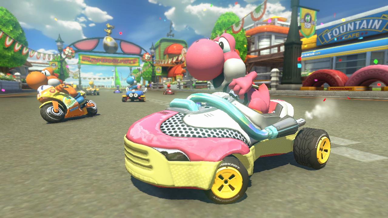 Mario Kart 8 DLC do circuito de Yoshi