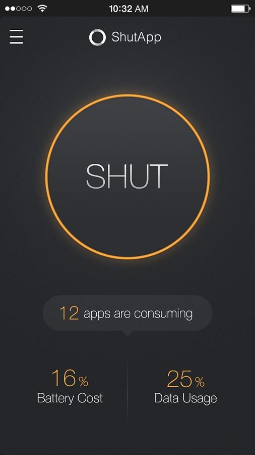 ShutApp - Real Battery Saver - Imagem 1 do software