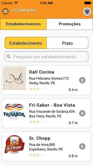e-Cardápios Online - Imagem 1 do software