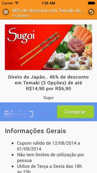 e-Cardápios Online - Imagem 2 do software