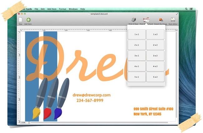 Quick Biz Cards - Imagem 1 do software