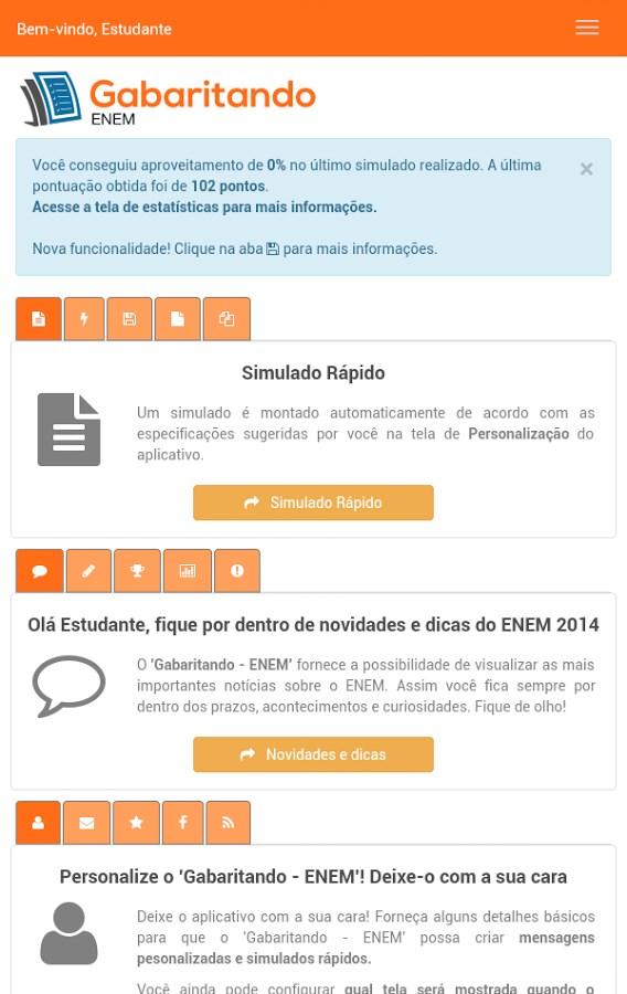 ENEM 2016 Simulado Gabaritando - Imagem 2 do software