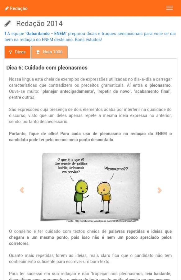 ENEM 2016 Simulado Gabaritando - Imagem 1 do software