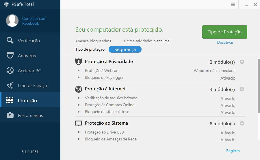 PSafe Total - Imagem 5 do software