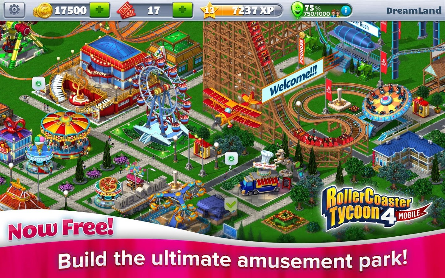 RollerCoaster Tycoon 4 Mobile - Imagem 1 do software