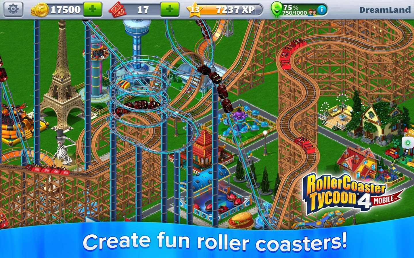 RollerCoaster Tycoon 4 Mobile - Imagem 2 do software