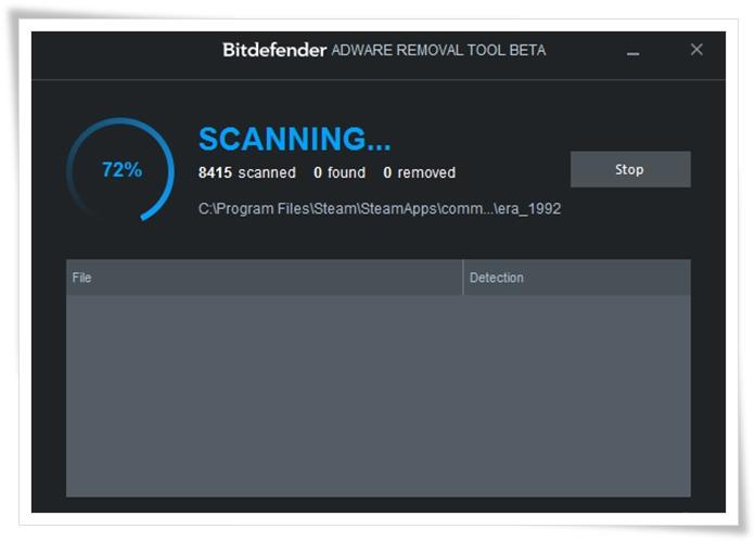 Bitdefender Adware Removal Tool - Imagem 1 do software