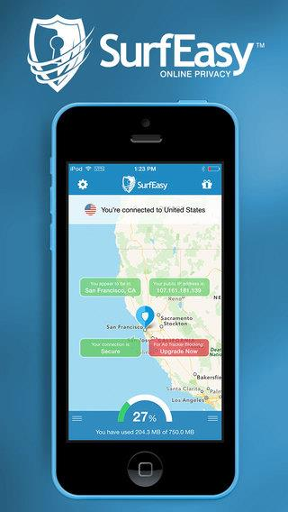SurfEasy VPN for iPhone and iPad - Imagem 1 do software