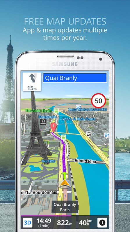GPS Navigation & Maps Sygic - Imagem 2 do software