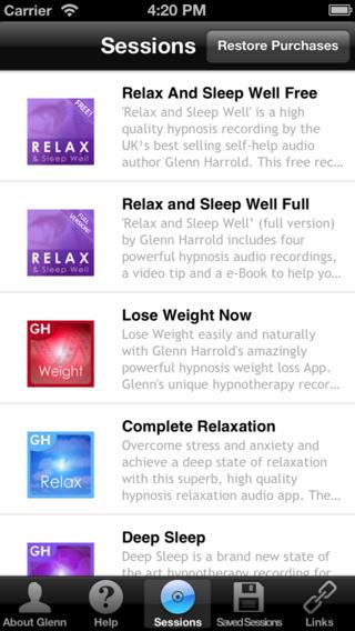 Relax & Sleep – Glenn Harrold - Imagem 1 do software