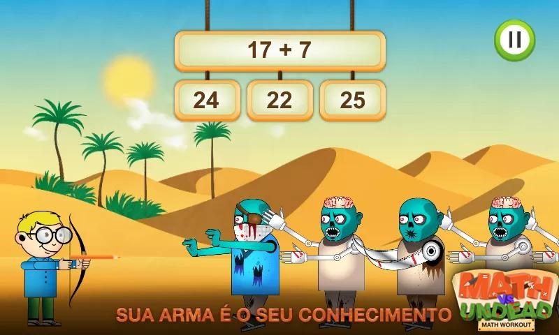 Jogos de Matemática para Crianças - Math vs Undead - Imagem 1 do software