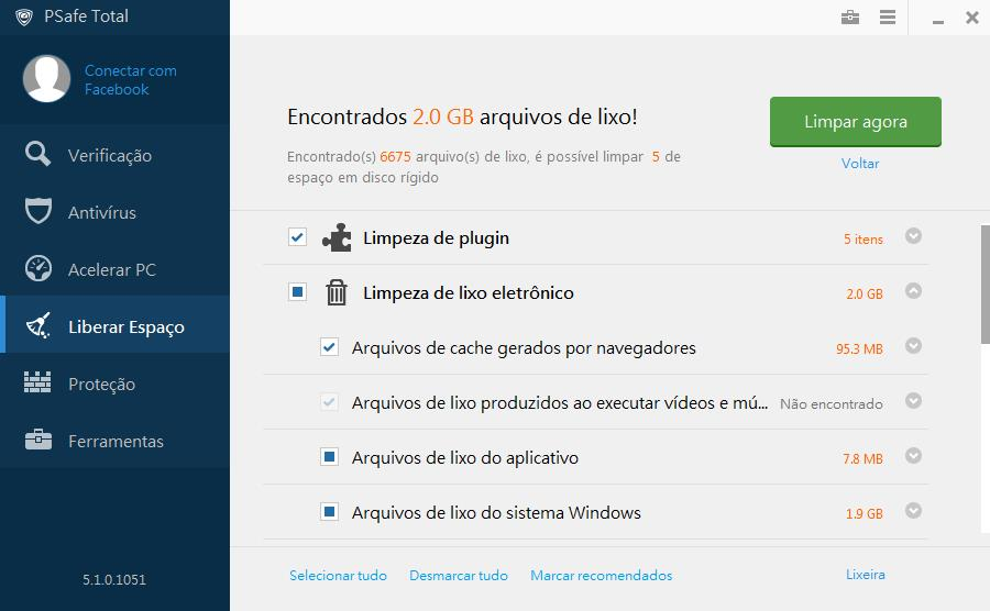 PSafe Total - Imagem 4 do software
