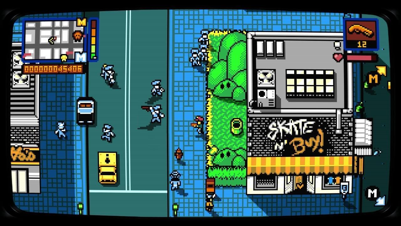 Retro City Rampage DX na versão para PS4