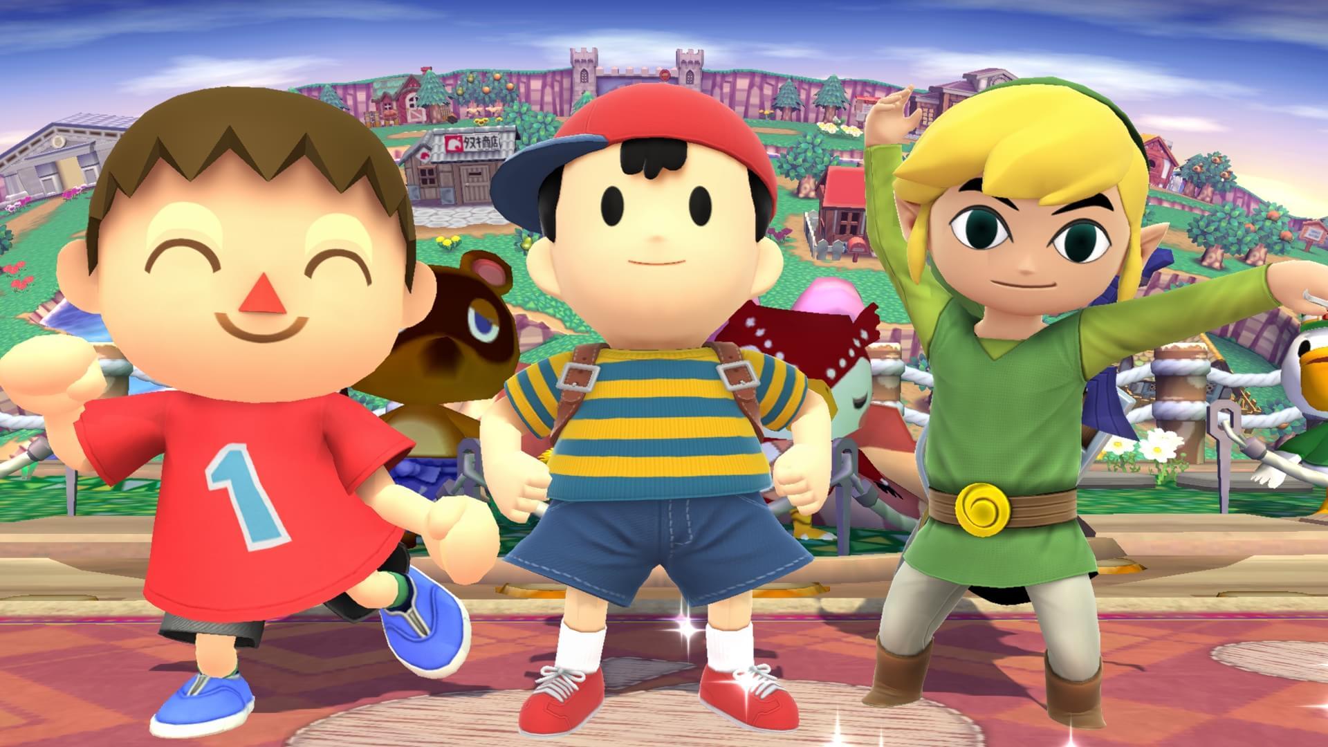 Novas screens e artes de Super Smash Bros.