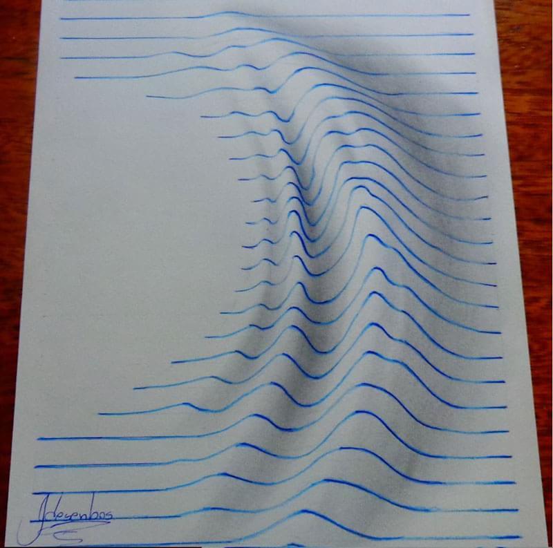 3d Line Drawing Hand : Garoto de anos surpreende com desenhos em d feitos