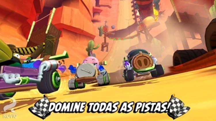 Atualização de Angry Birds Go! para iOS inclui multiplayer em equipe e mais
