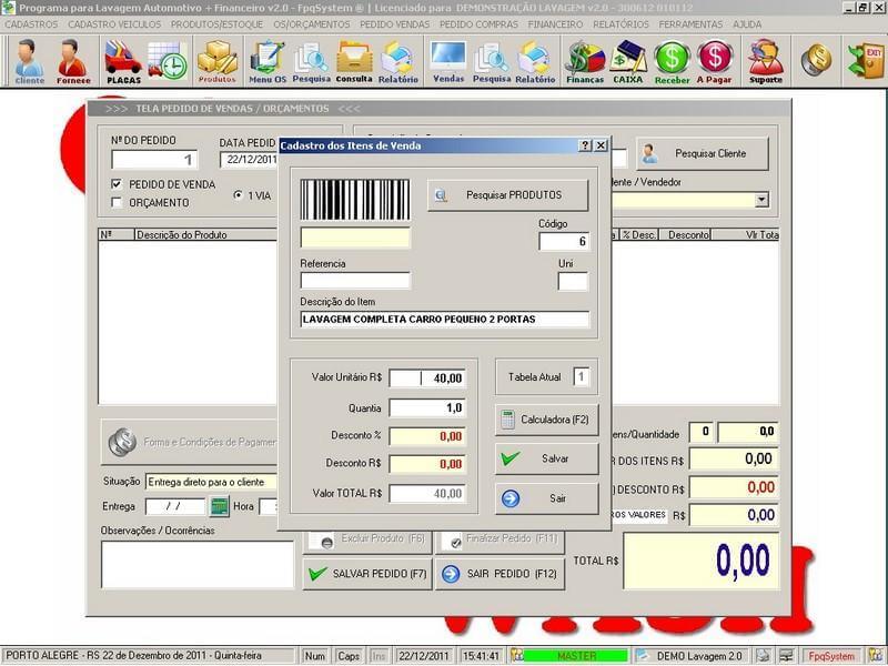 Programa para lavagem automotiva com ordem de servi o vendas e financeiro download - Programas para oficina ...