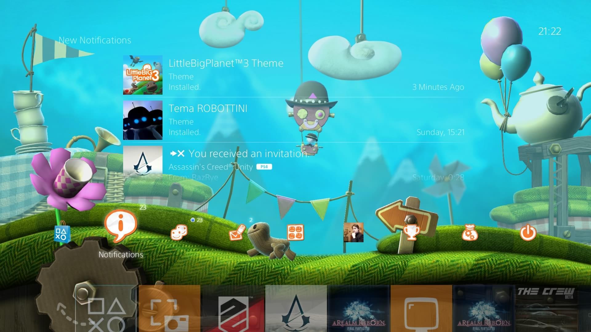 LittleBigPlanet 3 e The Order: 1886 ganham temas dinâmicos no PS4
