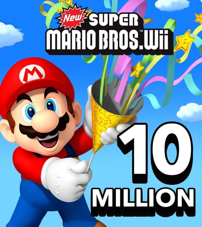 New Super Mario Bros. para Wii vendeu 10 milhões de cópias desde 2009