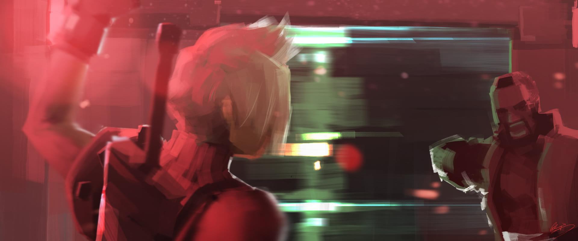 Pinturas recriam momentos memoráveis de Final Fantasy VII [galeria]