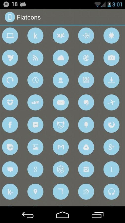 Flatcons Blue Icon Pack - Imagem 1 do software