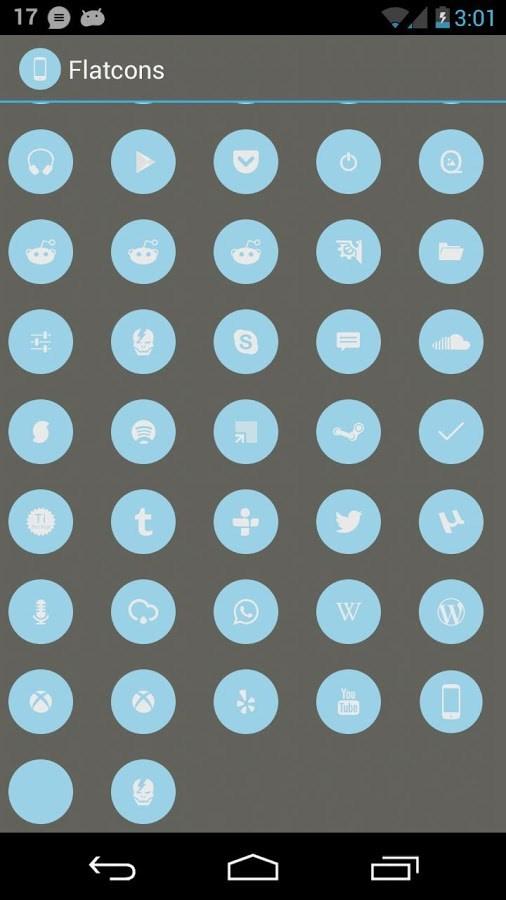 Flatcons Blue Icon Pack - Imagem 2 do software