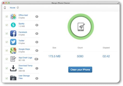 Macgo iPhone Cleaner - Imagem 1 do software