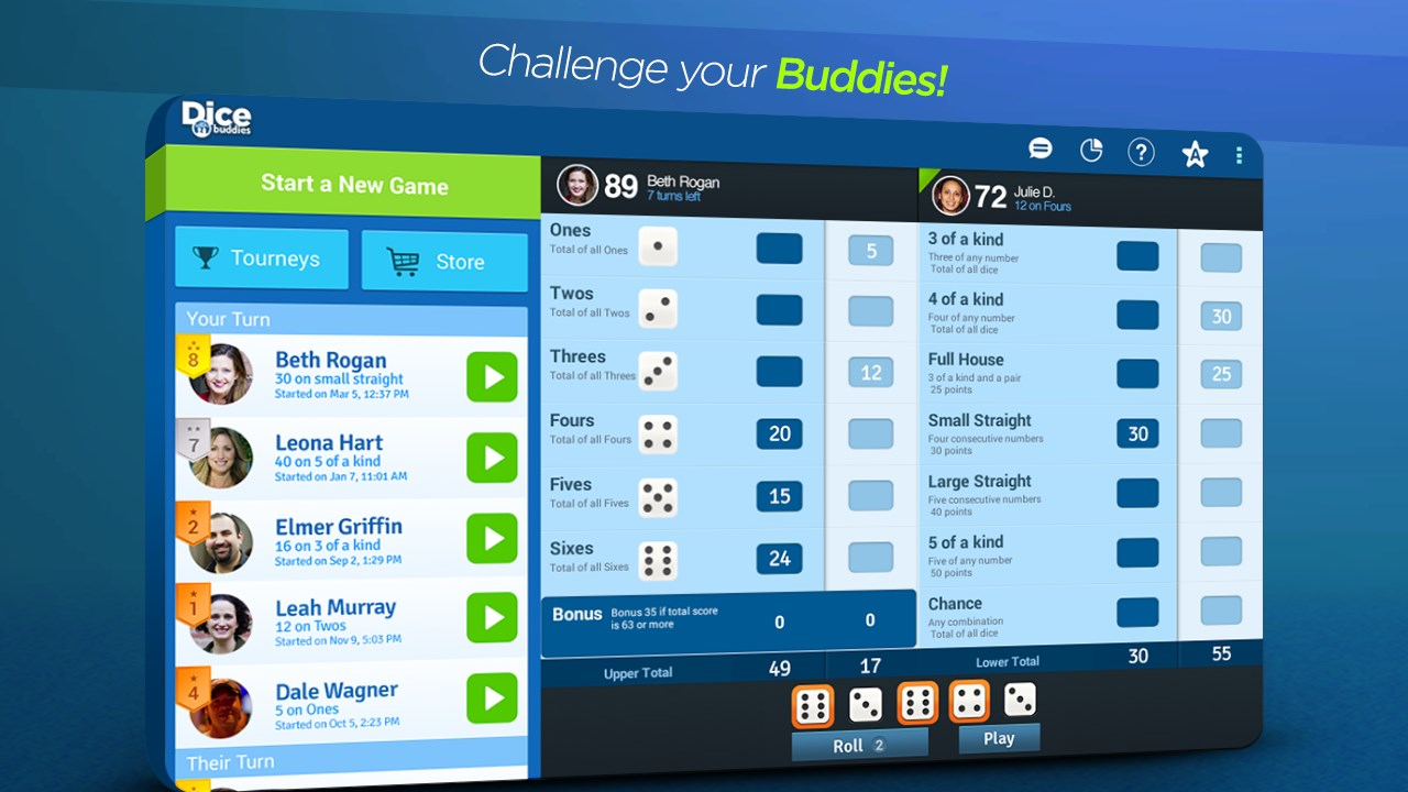 Dice With Buddies - Imagem 1 do software