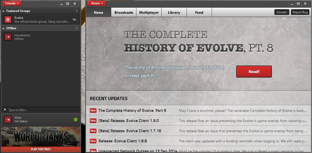 Evolve - Imagem 1 do software