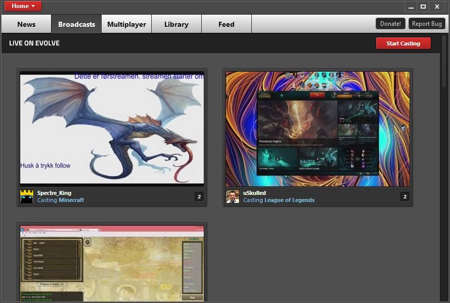 Evolve - Imagem 3 do software